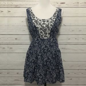 FOREVER 21 Paisley Open-back Babydoll Dress Top